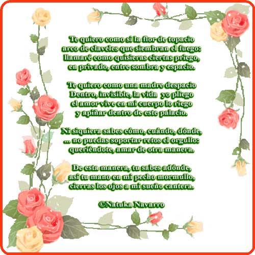 Te quiero como si la flor de topacio