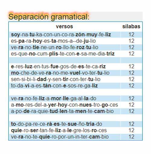 Separación gramatical
